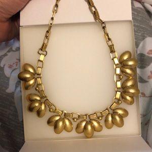 Stella & Dot Gold Petal Statement Necklace